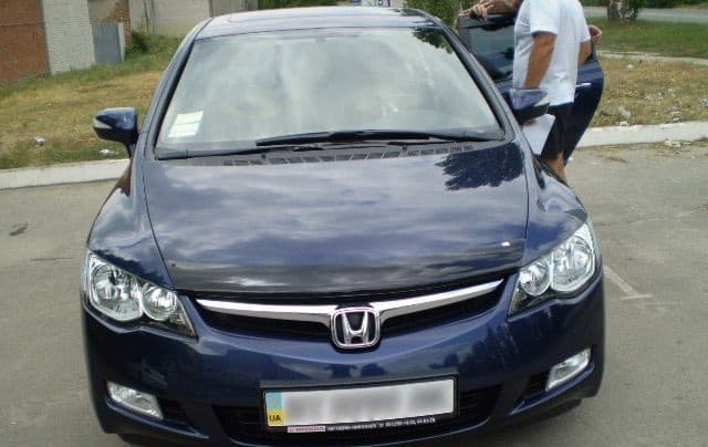 дефлекторы для капота на honda civic