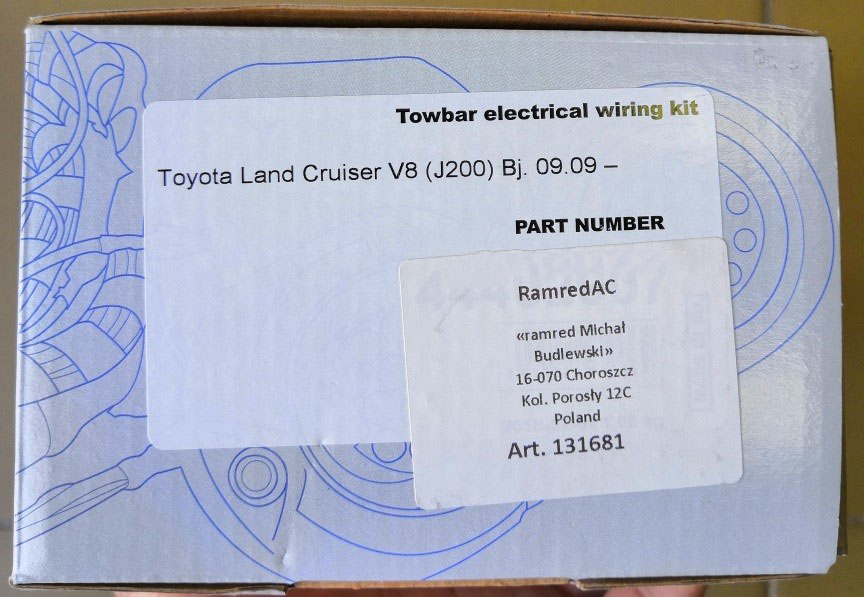 Комплект электрики Ramred 7-полюсной для Toyota Land Cruiser 200